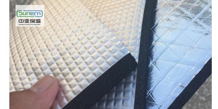 贴铝箔橡塑保温板价格