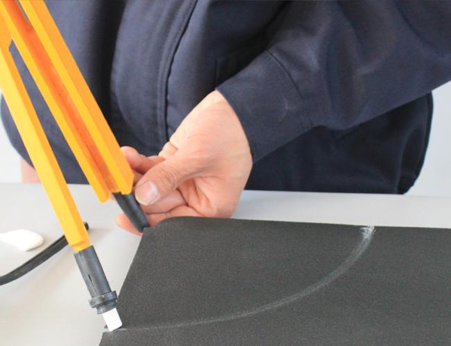 测量橡塑保温板尺寸