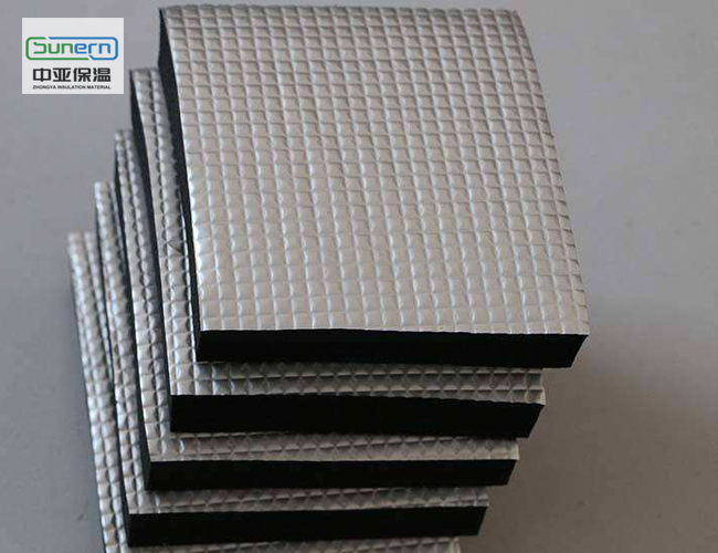 压花铝箔橡塑保温板