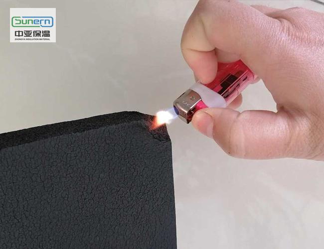 b1级阻燃橡塑保温板防火测试