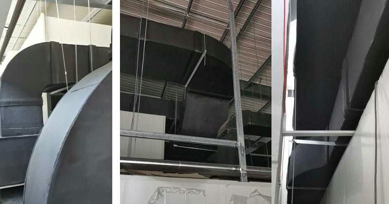 中亚保温材料用在华美光电车间