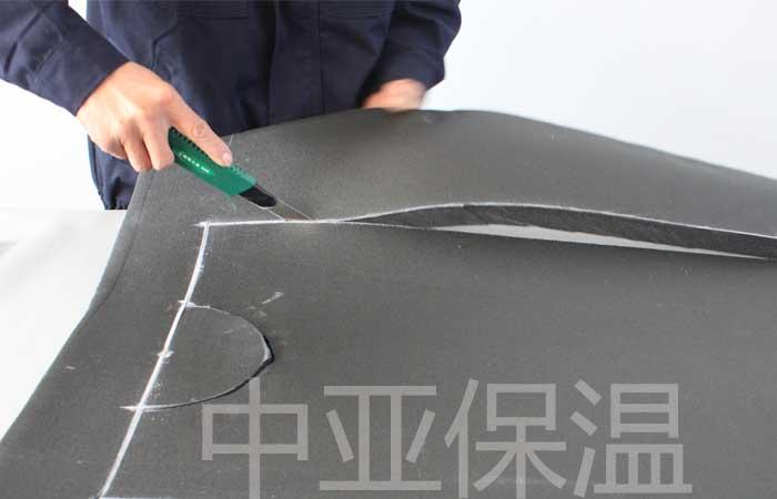 美工刀裁切橡塑保温板